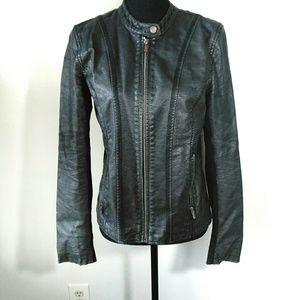 Kenneth Cole Reaction faux leather Motto Jacket